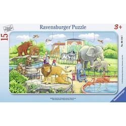 Ravensburger 06116 Rahmenpuzzle Ausflug in den Zoo 15 Teile 6116