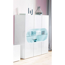 Tecnos Highboard Real, Höhe 121 cm weiß