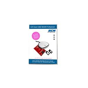 SCM Smart CARD READER Professional - Kartenleser plus Software zum Lesen diverser Smart Cards / SIM Karte