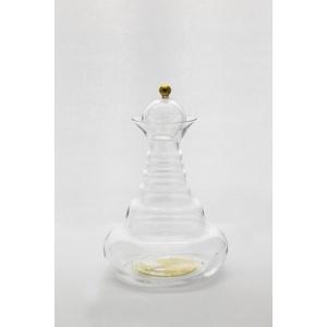 Natures-Design Wasserkaraffe Alladin Lebensbaum gold 1.3l, mit Glasdeckel und Goldknauf