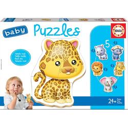 Educa Puzzle. Baby Puzzles Wild Animals 2x2/2x3/4Teile