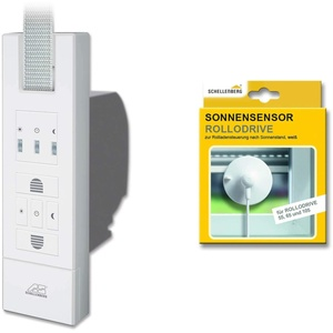 Schellenberg 22765 Elektrischer Gurtwickler RolloDrive 65 Standard + Sonnensensor 02266, System Maxi für 23 mm Gurtbreite, Rolladenantrieb