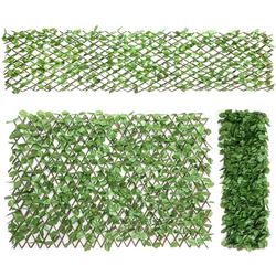 Kunstpflanze Künstliches Pflanzenwand, Heckenpflanze, COSTWAY, für Garten Dekor, 29x127cm/255x79cm