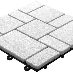 planeo Klickfliese Stone - Quarz Roma Weiß -