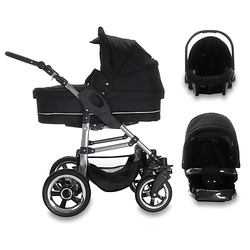 London   3 in 1 Kinderwagen Set   Luftreifen Kombikinderwagen schwarz
