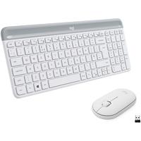 Logitech Slim Wireless Combo MK470 Tastatur RF Wireless AZERTY Französisch Weiß