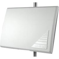 Axing TAA 3-20 Aktive DVB-T/T2 Flachantenne Fernsehen Radio f. Innen und Außen Weiß