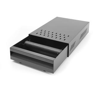 HENDI Abklopfbehälter, Abschlagbehälter, Abschlagkasten, entleeren des Kaffeesatz, Schubladenmodel, abnehmbarer Abklopfstange, 350x250x(H)90 mm, Karbonstahl