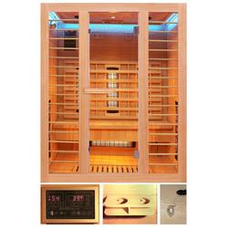 HOME DELUXE Infrarotkabine Redsun L Deluxe, BxTxH: 153 x 110 x 190 cm, 45 mm