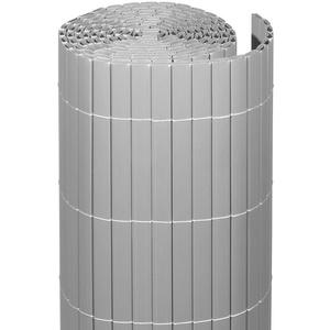 Videx-Sichtschutzmatte Rügen, Kunststoff aluminium, 90 x 300cm