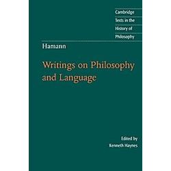 Hamann. Johann Georg Hamann  - Buch