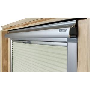 Home-Vision® Dachfenster Premium Doppelplissee Wabenplissee ohne Bohren Velux-kompatibel (Weiß-Creme für M08 / M38 - Silber) Zweifarbig Blickdicht Sonnenschutz, Alle Montage-Teile inklusive
