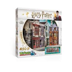 Wrebbit 3D-Puzzle 3D Puzzle Harry Potter Winkelgasse, 450 Teile, Puzzleteile