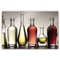 Küchenrückwand Spritzschutz Küche Olio e Aceto, (1-tlg) bunt 100 cm x 70 cm x 0,4 cm