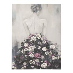 Bild Frau mit Rosenkleid