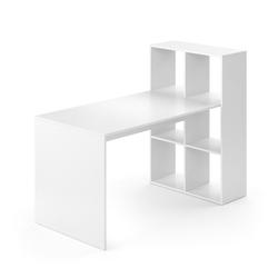 Vicco Regal-Schreibtisch Schreibtisch Emir weiß Computertisch mit Ablage Regal Raumteiler Bürotisch