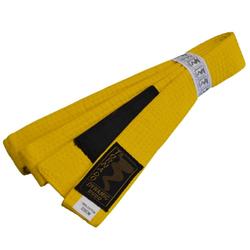 Kinder BJJ Gürtel gelb m. Bar (Größe: 220, Farbe: Gelb)