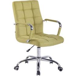 CLP Bürostuhl DELI mit Stoffbezug und hochwertiger Polsterung I Drehstuhl mit höhenverstellbarer Sitzhöhe... grün