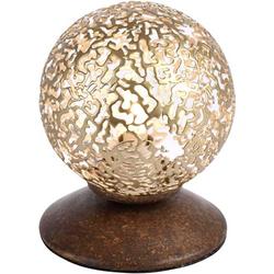 Paul Neuhaus GRETA 4031-48 Tischlampe LED, Halogen G9 40W Rost, Gold