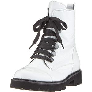 Gabor Damen Fashion 31.801. Stiefeletten, Weiß (Weiss/Schwarz 91), 41 EU