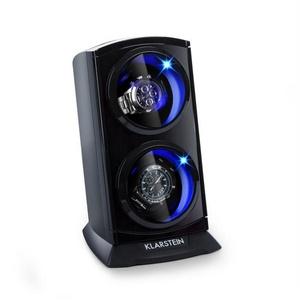 Klarstein Uhrenbeweger St. Gallen Premium Uhrenbeweger 2 Uhren 4 Geschwindigkeiten schwarz