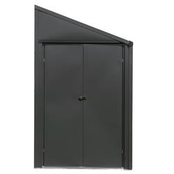 """SpaceMaker Metall-Gerätehaus """"4 x 7"""",anthrazit,2,4 m²"""