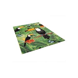 Designteppich Designer Teppich Faro Tropical Tukan, Pergamon, Rechteckig, Höhe 11 mm 140 cm x 200 cm x 11 mm