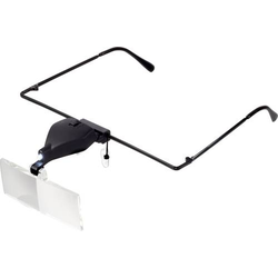 TOOLCRAFT TO-5137812 Lupenbrille mit LED-Beleuchtung Vergrößerungsfaktor: 1.5 x, 2.5 x, 3.5 x Lins