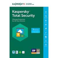 Kaspersky Total Security 2018 3 Geräte DE Win Mac Android iOS