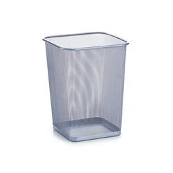 Zeller Present Papierkorb Papierkorb, eckig, Mesh, silber, 26,8 x 26,8 x 35,5 cm