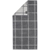 CAWÖ Luxury Home Two-Tone Grafik 604 Handtuch 50 x 100 cm schiefer