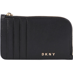 DKNY Bryant Kreditkartenetui Leder 13 cm blk/gold