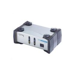 ATEN Monitor-/Audio-Switch Desktop 2 Anschlüsse zum Anschluss von 2 PCs an einen Monitor (VS261)