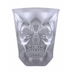 Horror-Shop Geschirr-Set Totenkopf Scotch & Whisky Glas für Halloween, Kunststoff