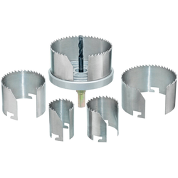 Connex Lochsäge 29-75 mm, Set, für Rohrdurchführungen, Ventilationsinstallationen und Hohllochbohrungen