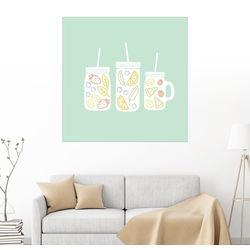 Posterlounge Wandbild, Fruchtlimonade 50 cm x 50 cm