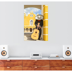 Posterlounge Wandbild, Mexikanischer Mariachi mit seiner Gitarre 40 cm x 60 cm