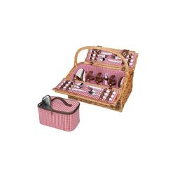 Cilio Picknickkorb Picknickkorb für 4 Personen RIVOLI, Picknickkorb