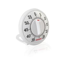 LEIFHEIT Kurzzeitmesser, Kurzzeitmesser mit Aufziehmechanismus, Farbe: weiß
