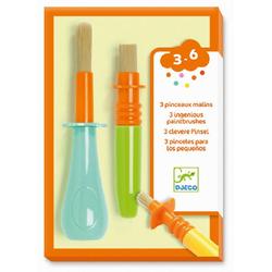 DJECO Malvorlage Farben- 3 clevere Pinsel