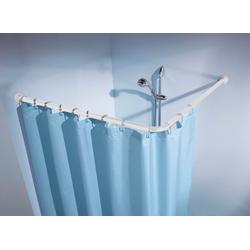 Winkelstange Duschvorhangstange, Kleine Wolke, Ø 25 mm, kürzbar, für Duschvorhänge, Länge 90 cm