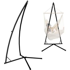 AMANKA Hängemattengestell Hängestuhlgestell EPR-HSG-130, Gestell bis 120 kg schwarz schwarz