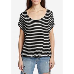 khujo T-Shirt MELTANIA mit elastischem Saum und U-Boot-Ausschnitt S (36)