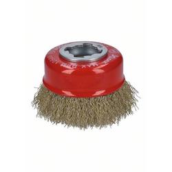 Bosch Accessories Topfbürste X-LOCK Clean for Metal, 75 mm, 0,3 mm, gewellte Messingbürste 2608620