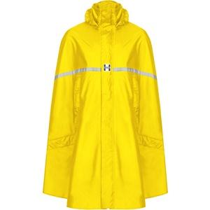 HOCK Premium Regenponcho mit Reißverschluss - Fahrradponcho Wasserdicht mit Reflektoren - Herren Damen Regenschutz - Hochwertige Regenbekleidung (gelb, L)