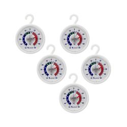 Lantelme Kühlschrankthermometer Gefrier- / Kühlschrankthermometer mit Haken, 5-tlg., rund, analog, Bimetall