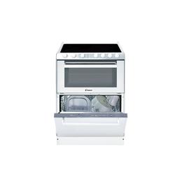 Candy Backofen TRIO 9503/1 W/U, 3-in-1-Lösung Backofen Kochfeld und Geschirrspüler