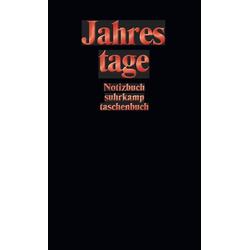 Notizbuch suhrkamp taschenbuch als Taschenbuch von