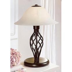Home affaire Tischleuchte, Tischlampe 40 cm im Landhaus-Stil, hochwertiger Glasschirm
