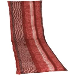 GO-DE Liegenauflage, Rollliegen-Auflage rot Liegenauflagen Gartenmöbel-Auflagen Gartenmöbel Gartendeko Liegenauflage